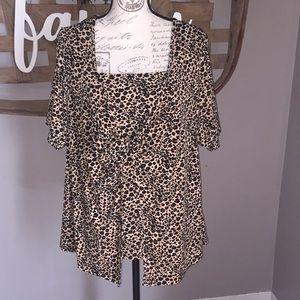 Studio 1940 cheetah print blouse size 18W